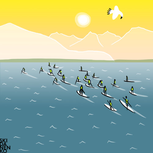 Legend of Ox Long Distance - Stand up Paddle (SUP) Rennen am Wolfgangsee